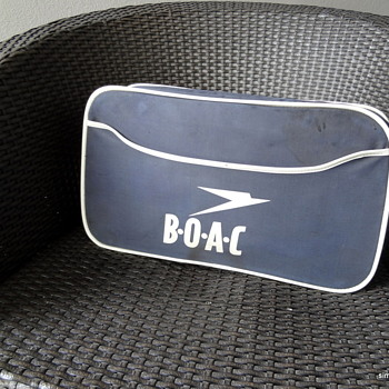 BOAC carry-on bag - Advertising