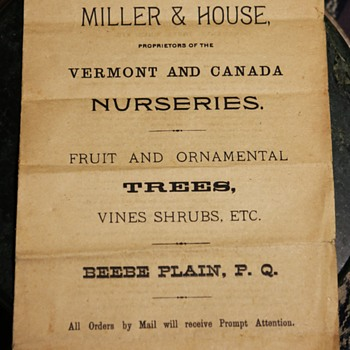 Miller & House Vermont and Canada Nurseries Instructions