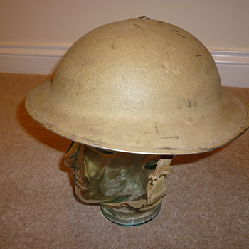 WW11 North African desert warfare helmet 8th Army