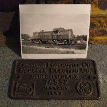 Monon Alco RS-2 Builders Plate - Railroadiana