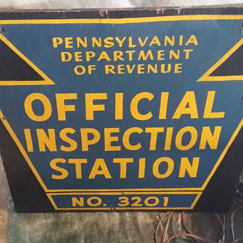 Personal Inspection: PA Offical Inspection Station  Sign - Signs