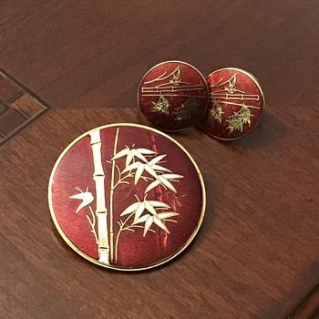 Pendant brooch and earrings  - Fine Jewelry