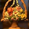 Iron Flower Basket Doorstop