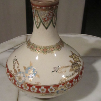 Early Japanese Satsuma Taizan Sake Bottle from Meiji Reign - Asian