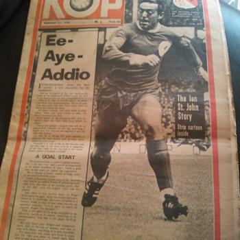 KOP September 21st 1966 Paper Liverpool F.C.