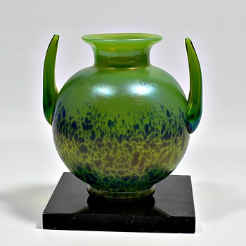 Loetz Cobalt Cisele - Art Glass