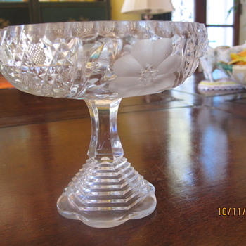 compote with the most elaborate stepped stem - Glassware