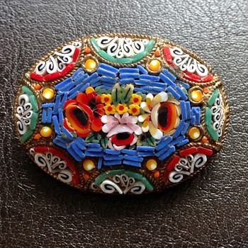 Mosaic brooch - Fine Jewelry