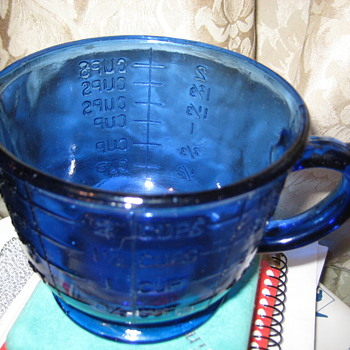 Colbalt Blue Glass Measuring Cup - Glassware