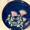 3 Dimensional Cobalt Blue Decorative Plate Scottish Thistle