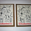 Mel Allen Ballantine Beer and Ale  AD plaque