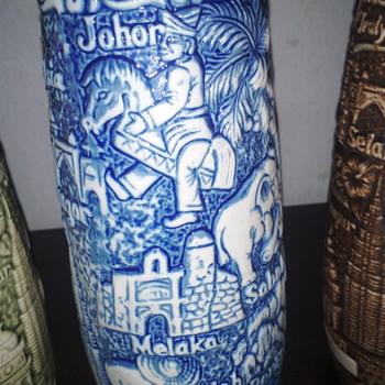 Malaysia Truly Asia motif ceramic 13 oz juice  highball  - Animals