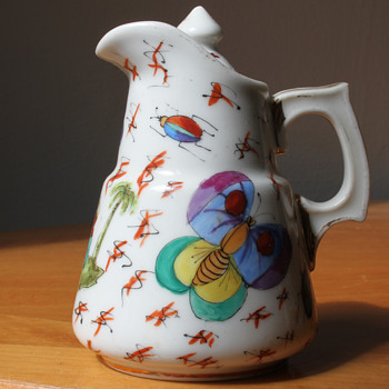 chinese export ware miniature tea pot - Asian
