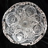 1909 Imperial Glass Punch Bowl stand #404 Hobstar & arches