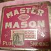 Master Mason Tobacco Tin
