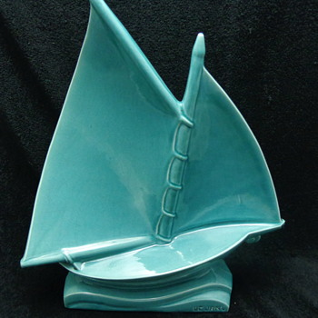 1930's Le Jan Ceramic Sailboat - Pottery
