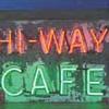 Vintage 1930's HI - WAY CAFE Antique Neon Sign All Original * Depression Era