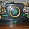 Art Deco Malachite Inlay Mantle Clock
