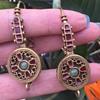 Brass MMA Earrings.