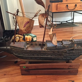 Vintage Ship, garage sale find - Toys