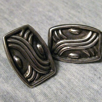 1930's sterling earrings from Mexico