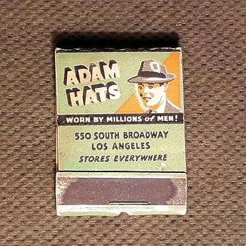 Adam Hats Matchbook Plus Free Bonus MacBeth Adams Ashtray - Advertising