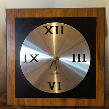 "SETH THOMAS ""PANEL"" battery clock - Clocks"