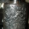 Antique English Sterling Silver Tea Caddy Cherubs Berthold Mueller