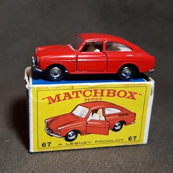 Mighty Macho Myrmidons Matchbox Monday MB 67 Volkswagen 1600 TL With E Box - Model Cars