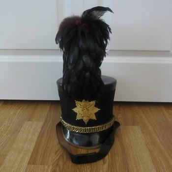 military shako tar bucket hat with plume