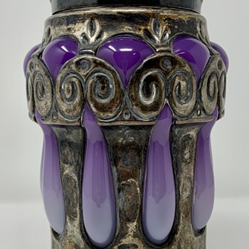 "Loetz Violett Opal Verlaufend Jar ""Pergamon"", made for Fred Dunn & Co., Munich, ca. 1910 - Art Glass"