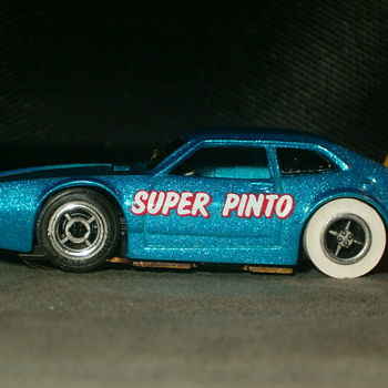 1/64TH TYCO PRO SUPER PINTO RARE METALLIC BLUE! - Model Cars