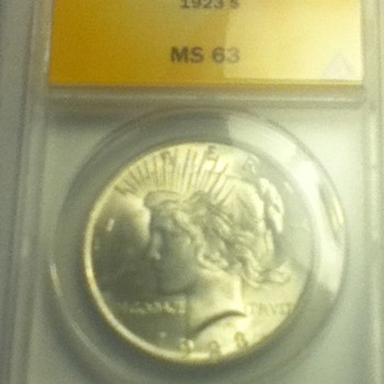 1923 & 1924 Peace Dollars - US Coins