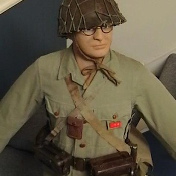 Original WW II Japanese Army Uniform, Helmet, and Equipment - Military and Wartime