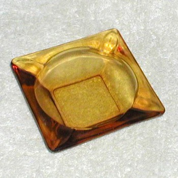 Anchor Hocking Amber Glass Ashtray - Glassware