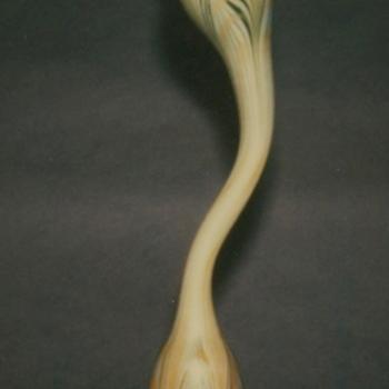 QUEZAL ART GLASS VASE - Art Glass