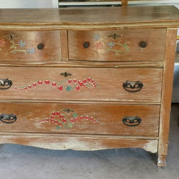 hand painted dresser inherited from my aunt - Furniture