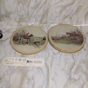 Reverse lithograph plates? or trivets? or what?   - Fine Art