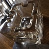 Superb, solid designer clear glass ashtray
