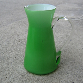 Mid-century green glass pitcher