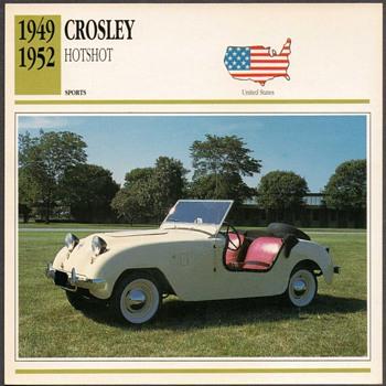 Vintage Car Card - Crosley Hotshot
