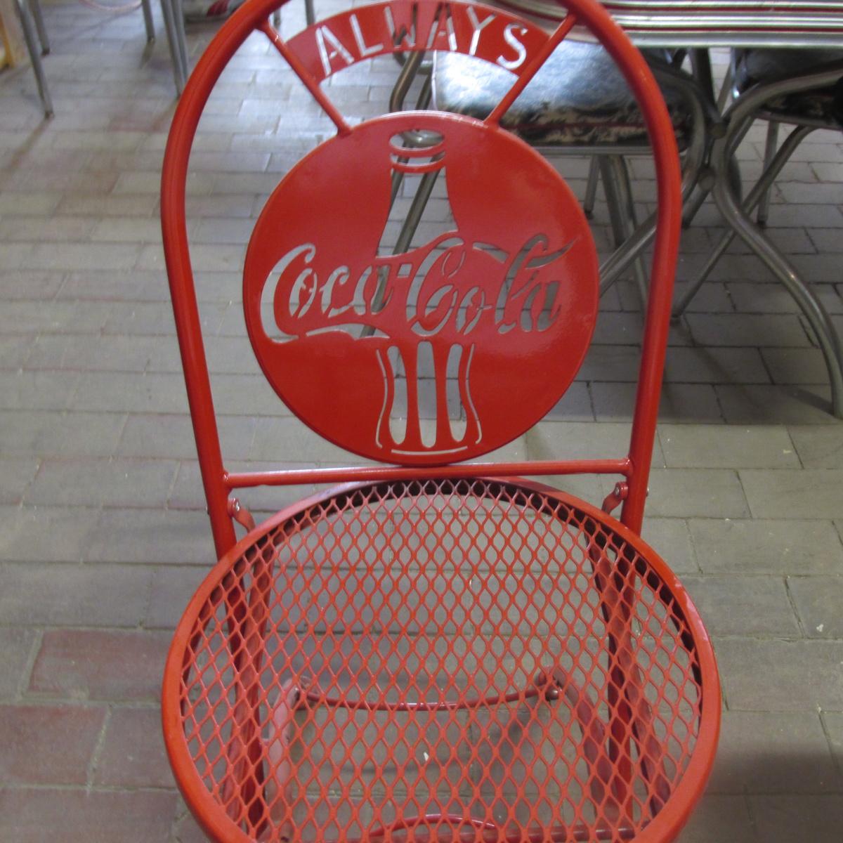 folding coca cola metal chair collectors weekly
