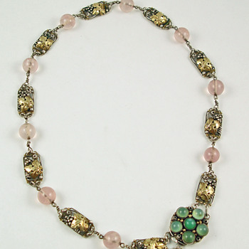 Dorrie Nossiter Arts & Crafts grape leaves necklace - Fine Jewelry