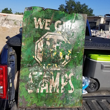 Looking for information on old Stamp sign - Signs