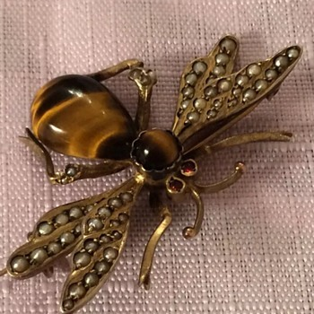 Another big Victorian winged insect brooch! - Fine Jewelry