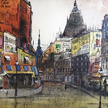 "W.T.Carlsen,Painting on Canvas""Circa 1950-70 - Fine Art"