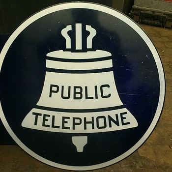 Public telephone sign - Signs