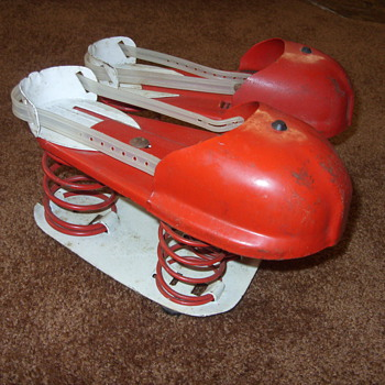 1950s metal satellite jumping shoes - Shoes