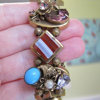 Vintage Slide Bracelet 1 - Costume Jewelry