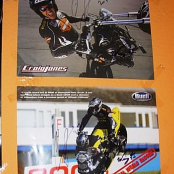 Craig Jones Autographed posters - Motorcycles